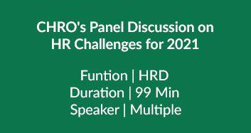 CHRO's Panel Discussion
