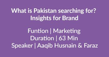 What Is Pakistan Searching For