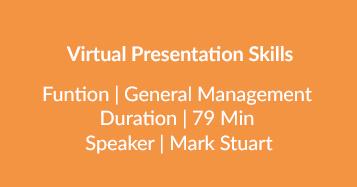 Virtual Presentation Skills