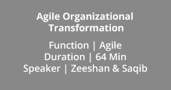 Agile Organizational Transformation