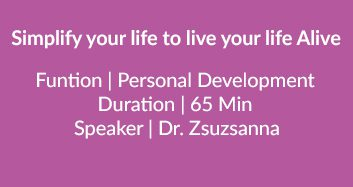 Simplify Your Life To Live Your Life Alive