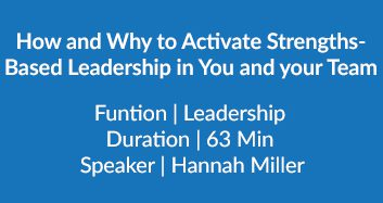 How And Why To Activate Strengths