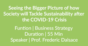 Tackle Sustainability  After The COVID-19 Crisis