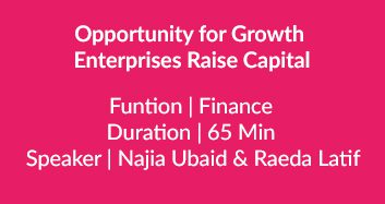 Enterprises Raise Capital