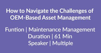 OEM-Based Asset Management