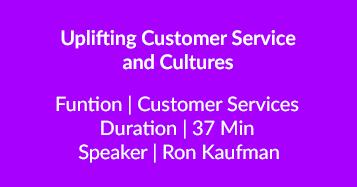 Uplifting Customer Service