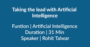 Taking The Lead With Artificial  Intelligence