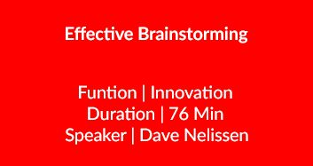 Effective Brainstorming