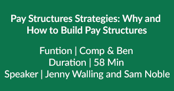 Why And How To Build Pay Structures